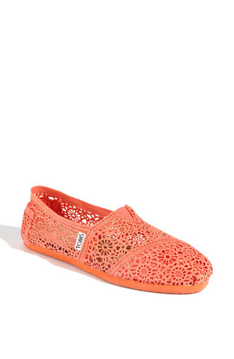 shoes toms espadrilles corail