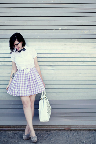 keiko lynn bag shoes shirt skirt