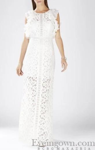 dress blanche longue dentelle