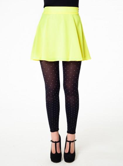 Naven circle skirt neon yellow