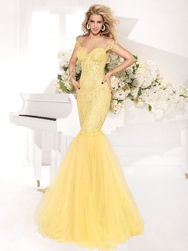 abendkleider hot &sexy dress mermaid prom dress evening dress evening dress lace dress yellow lace dress fashion formal evening dresses