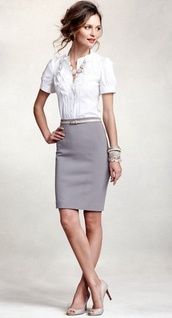 skirt,grey,pencil skirt