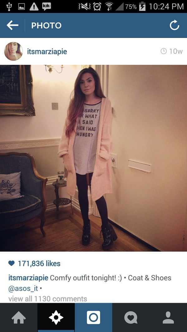 jacket cute fluffy pink coat sweater marzia light pastel baby blouse top shirt sweet doll lovely pretty winter outfits warm wool nice baby pink pale long cardigan funny t-shirt white tights shoes quote on it pockets loose baggy cutepiemarzia cutiepiemarzia light pink t-shirt midi skirt with pockets pastel grunge sunglasses glasses sunnies accessories Accessory trendy style fashion