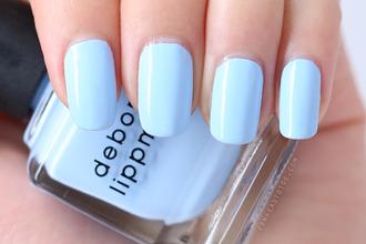 nail polish nails blue deborah lippmann pastel light blue summer accessories blue wedding accessory