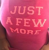 top,pink sports wear