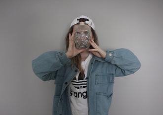 jacket denim jacket tumblr outfit blue jacket girly wishlist outfits