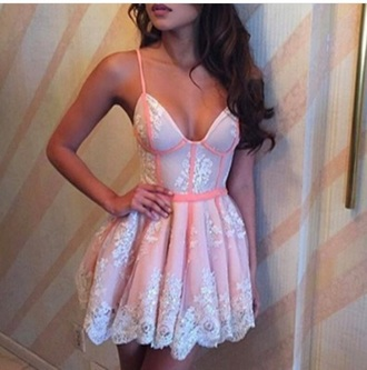 dress boho dress lace dress summer dress cute dress bodycon dress bodycon tutu dress pink dress pink lace up sexy dress sexy spaghetti strap corset top tumblr clothes mini dress short dress party dress outfit corset