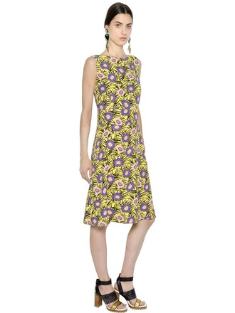 dress floral purple yellow