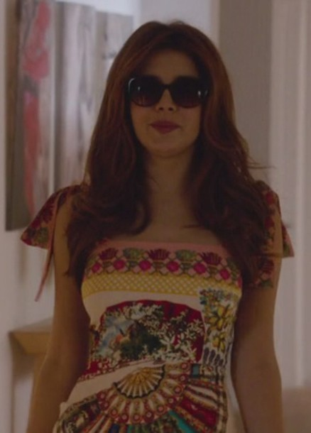 dress floral revenge Louise Ellis elena satine tie shoulders
