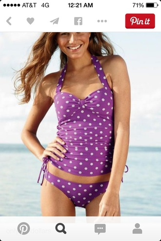 swimwear purple swimwear swimming beach beach wear tankini bathing suit summer cinched