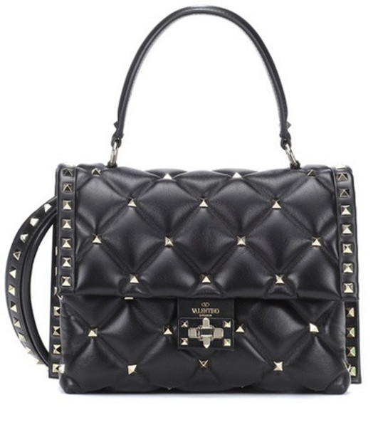 Valentino Garavani Candystud leather shoulder bag in black