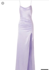 dress,satin dress,satin,long prom dress,prom dress,purple dress,purple,maxi dress,iheartradio