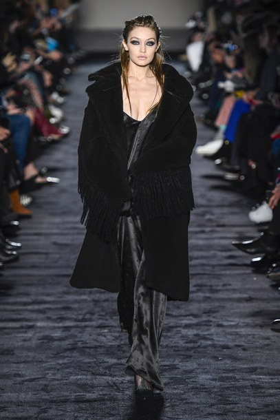 71872560c4be dress gown coat all black everything gigi hadid maxi dress slip dress  runway model max mara