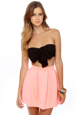 Strapless top
