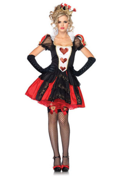 Red And Black Dress Queen Of Hearts Alice In Wonderland Dress