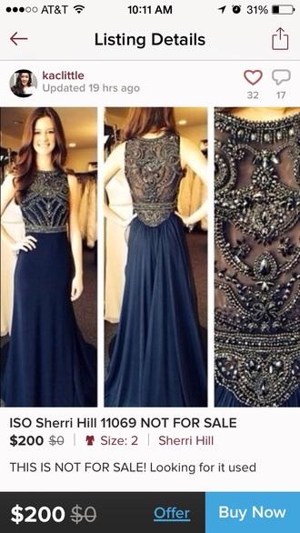 dress prom dress navy blue prom dress long prom dress