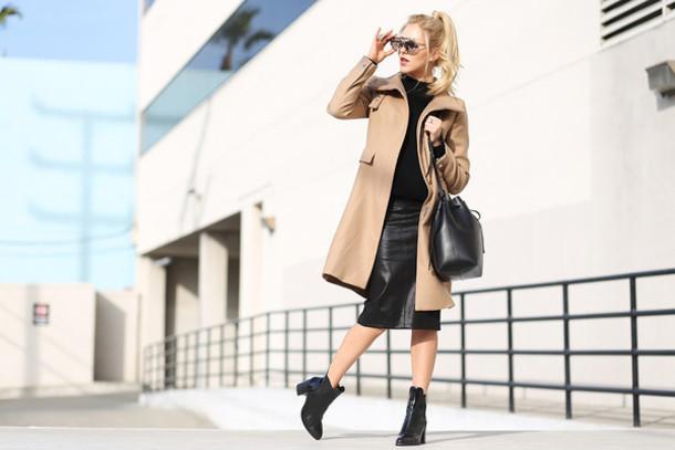 cheyenne meets chanel coat sweater skirt shoes bag sunglasses t-shirt