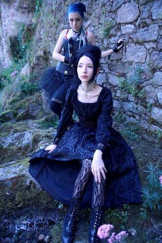 dress goth gothic lolita gothic dress black black dress