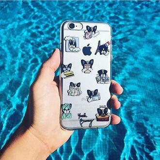 phone cover dog iphone cover iphone case iphone7 iphone6s cute transparent travel frenchie paris