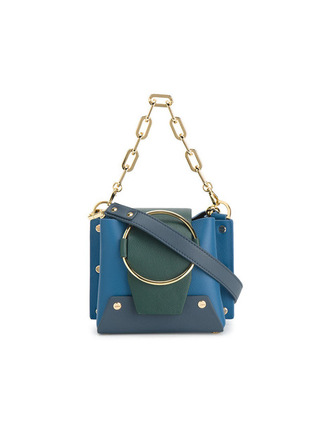 Yuzefi mini women bag bucket bag leather blue