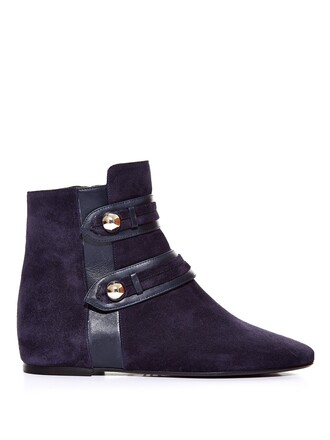 suede ankle boots boots ankle boots suede navy black shoes