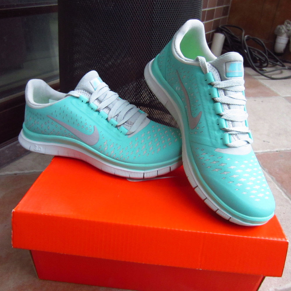 NEW Free 3 ,V4 Mint Green nike Womens Running Shoes