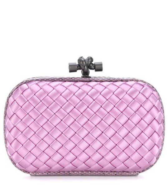 Bottega Veneta clutch satin pink bag