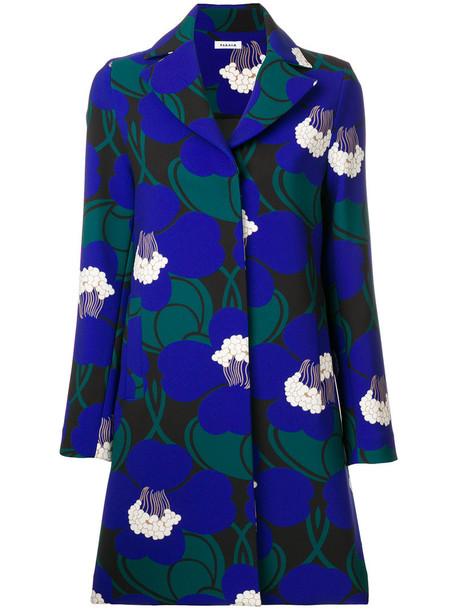 P.A.R.O.S.H. coat women spandex floral blue