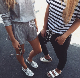 romper grey romper streetstyle summer outfits urban t-shirt shoes
