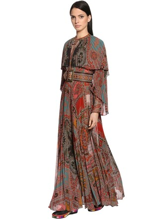 dress pleated multicolor