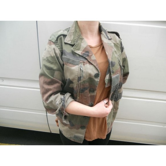 ✪ Vintage Women's French F2 Camo Jacket Coat Surplus Army Military Retro Urban ✪ | eBay