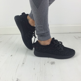 shoes footwear sneakers yeezy trainers black shoes sports shoes