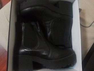 black boots shoes platform shoes black boots leather