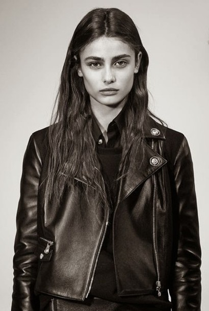 jacket versus biker jacket leather jacket black leather jacket black leather black trendy fall outfits nappa versace rock designer luxury made in italy retro classic model Taylor hill