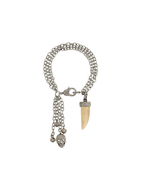 Loree Rodkin women charm bracelet silver grey metallic jewels