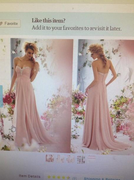 dress light pink dress