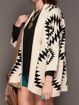 Ivory Aztec Print Cardigan - $49.99 : FashionCupcake, Designer Clothing, Accessories, and Gifts