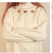 sweater,girly,jumper,heart,cut-out
