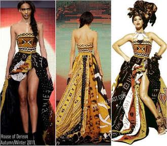 dress african print fierce beyonce