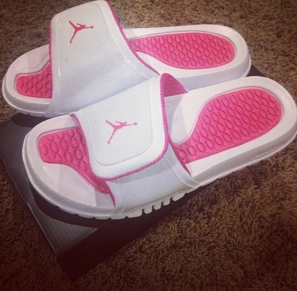 a93ee2f72c76 Jordan Hydro II - Girls  Grade School - Casual - Shoes - White Pink