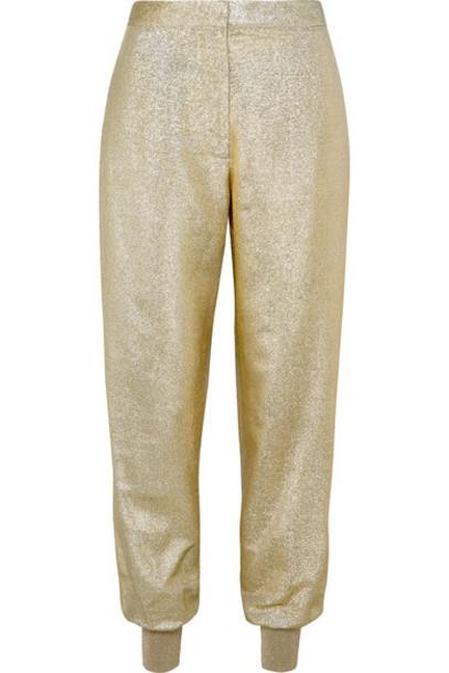 Stella McCartney pants gold