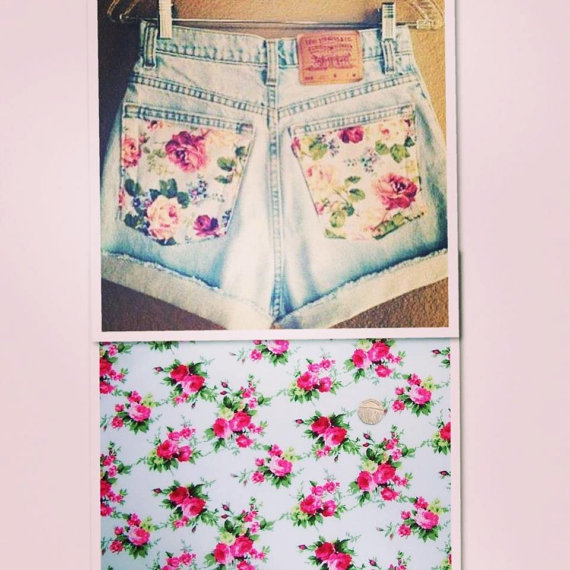 Flowers in my pocket by carriecustomvintage on etsy