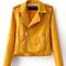 Lapel biker jacket|disheefashion