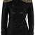 WOMENS LADIES PVC FAUX LEATHER FULL SLEEVE FUR COAT BELTED LONG JACKET | eBay