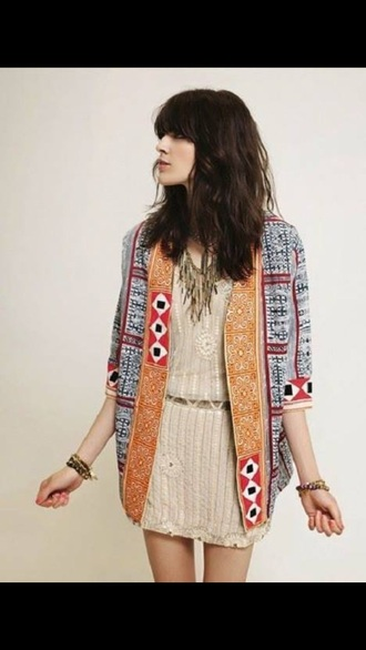 jacket ethnic colorful