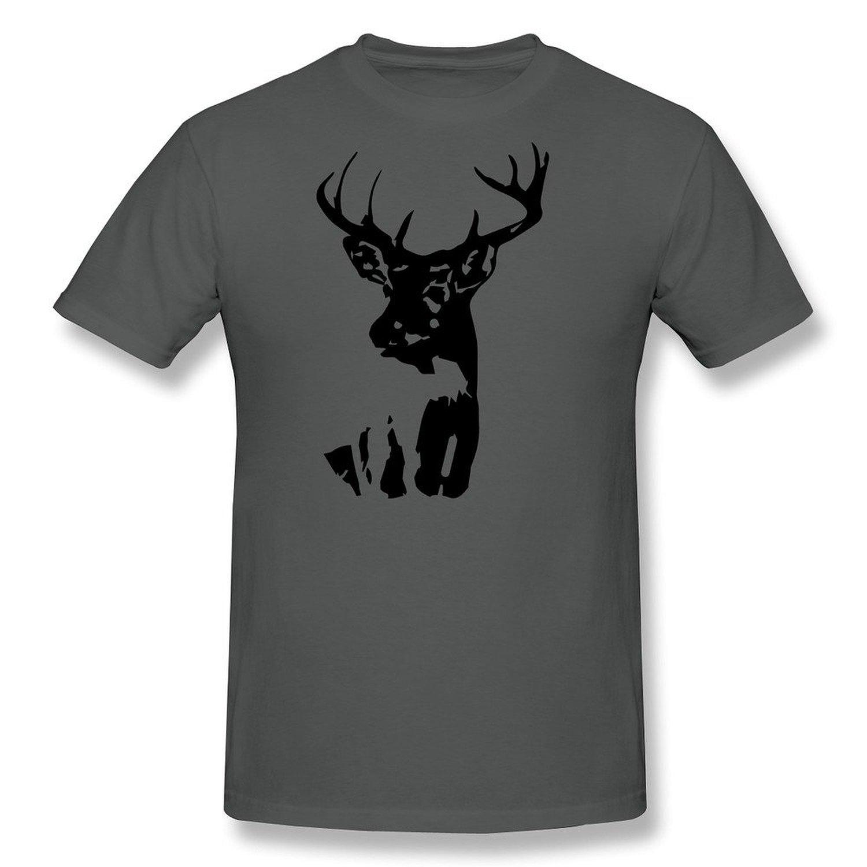 Amazon.com: lzf men's white tail deer cotton t