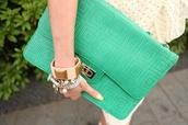 bag,oversized envelope clutch,mint,maze pattern