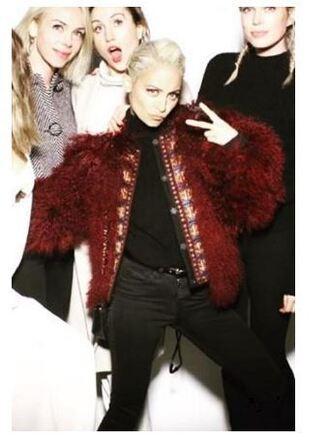 jacket fur fur jacket nicole richie