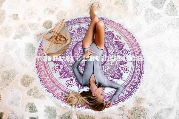 home accessory beachthrow tablecloth mandala Roundie mandala roundie