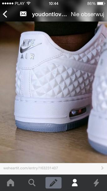 shoes nike force nike air force white unusual